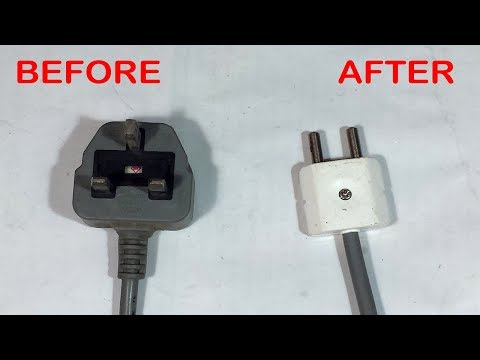 How To Convert UK Type G Plug To Two Pin Plug