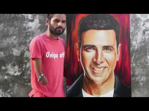 Akshay Kumar Painting | Bollywood actor Askhay Kumar painting | by Artist dhaval khatri