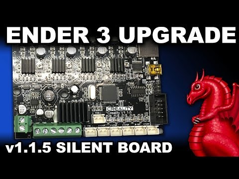 graphic regarding Ender 3 Printable Upgrades identified as Ender 3 v1.1.5 Quiet Mainboard Update