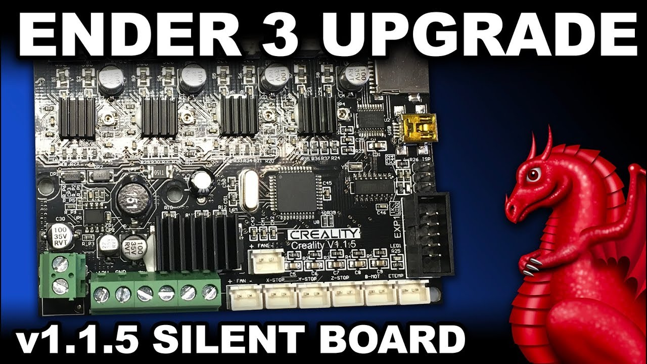 graphic relating to Ender 3 Printable Upgrades called Ender 3 v1.1.5 Quiet Mainboard Improve