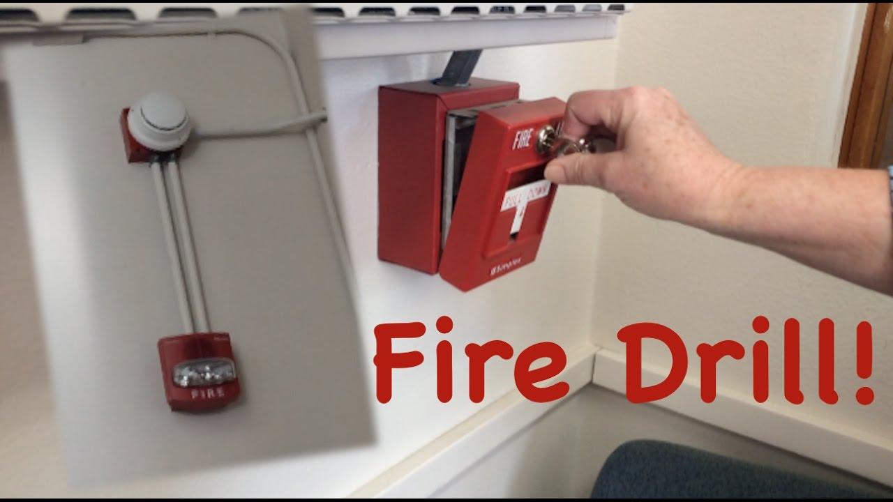 School Fire Drill #9: Simplex & NEW SCHOOL