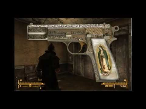 Fallout New Vegas-All Unique Weapons- Part 1