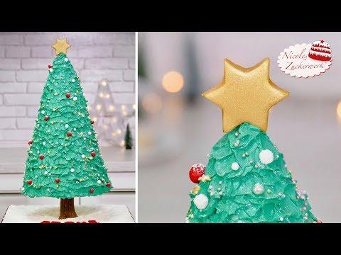Weihnachtsbaum als 3D Torte I Tannenbaum-Torte für Weihnachten I von Nicoles Zuckerwerk
