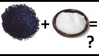 Что будет если марганцовку смешать с сахаром?Посмотри!