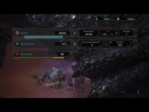 MONSTER HUNTER WORLD || Black Diablos investigation farm (no ghillie mantle or stealth skill)