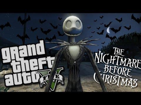 The Nightmare Before Christmas MOD W/ Jack Skellington (GTA 5 PC Mods Gameplay)