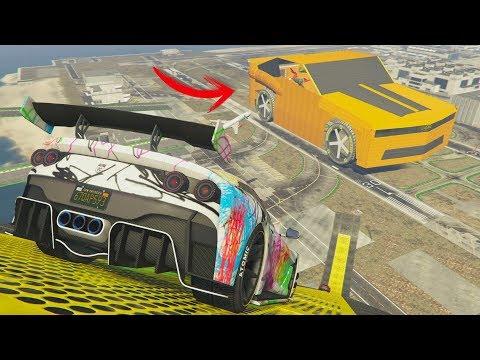 UN CAMARO GIGANTE! INCREIBLE! - CARRERA GTA V ONLINE - GTA 5 ONLINE thumbnail