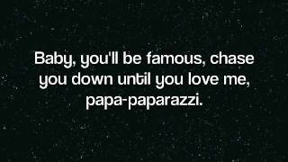 Lady Gaga - Paparazzi (Lyrics)