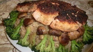 Jerk Salmon With Rice By Create Cooking's Channel