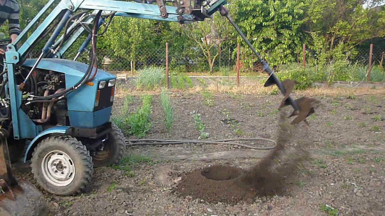 мягкая показать фото самодельного ямобура на трактор мтз самых