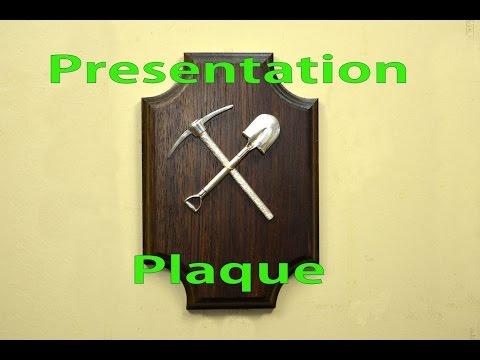 How to Make a Presentation Plaque