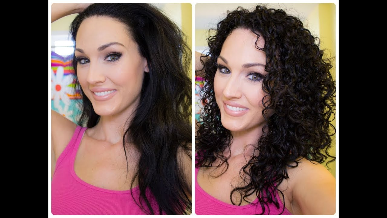 Natural Curly Hair Washing And Styling Tutorial Youtube