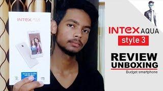 Unboxing & Review Intex Aqua style 3 | Budget Smartphone