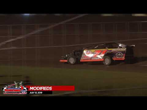 Wissota Modified Highlights - River Cities Speedway - 7/12/19