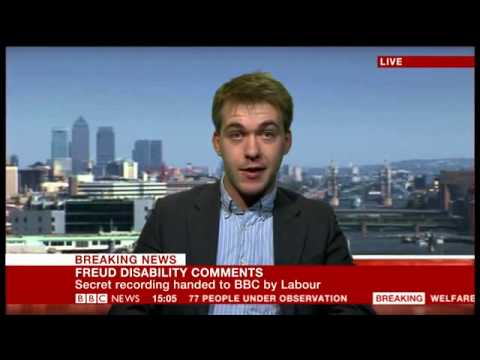 Sam Bowman defends Lord Freud's remarks on work and disability on BBC News