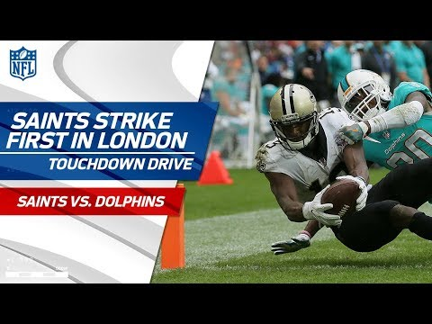Drew Brees Leads New Orleans on First TD Drive   Saints vs. Dolphins   NFL in London