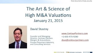 The Art & Science of High M&A Valuation