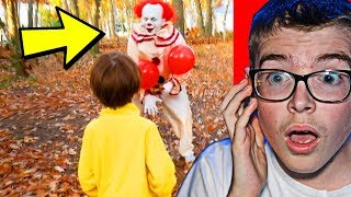 KID GETS CHASED BY PENNYWISE THE CLOWN! (SO SCARY)