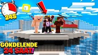 MİNECRAFT ama GÖKDELENDE 1 GÜN GEÇİRMEK !! 😱 - Minecraft