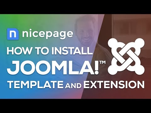 How To Install The Joomla Template And The Joomla Extension In Nicepage Website Builder