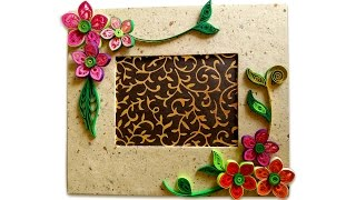 How To Make Beautiful Quilling Photo Frame | Easy Craft Ideas