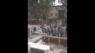 Кушербаев жестко разогнал митинг в Кызылорде