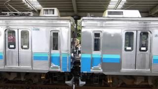 【伊豆急行】8000系 伊豆高原駅 熱海行 増結と発車 izukyu corporation