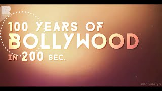 100 years of Bollywood in 200 sec. | Sand Art  Rahul Arya