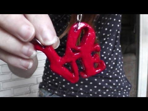 Collar love manualidades para san valentin youtube Adornos san valentin manualidades