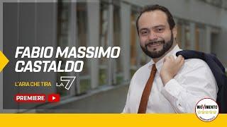 Fabio massimo Castaldo, ospite a L'Aria che Tira, La7