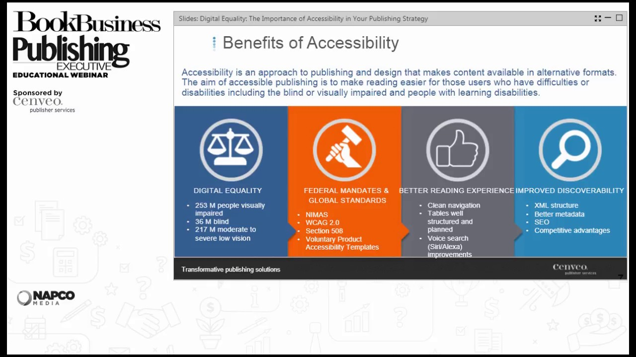 Digital Equality The Importance Of Accessibility In Your Publishing Strategy Youtube