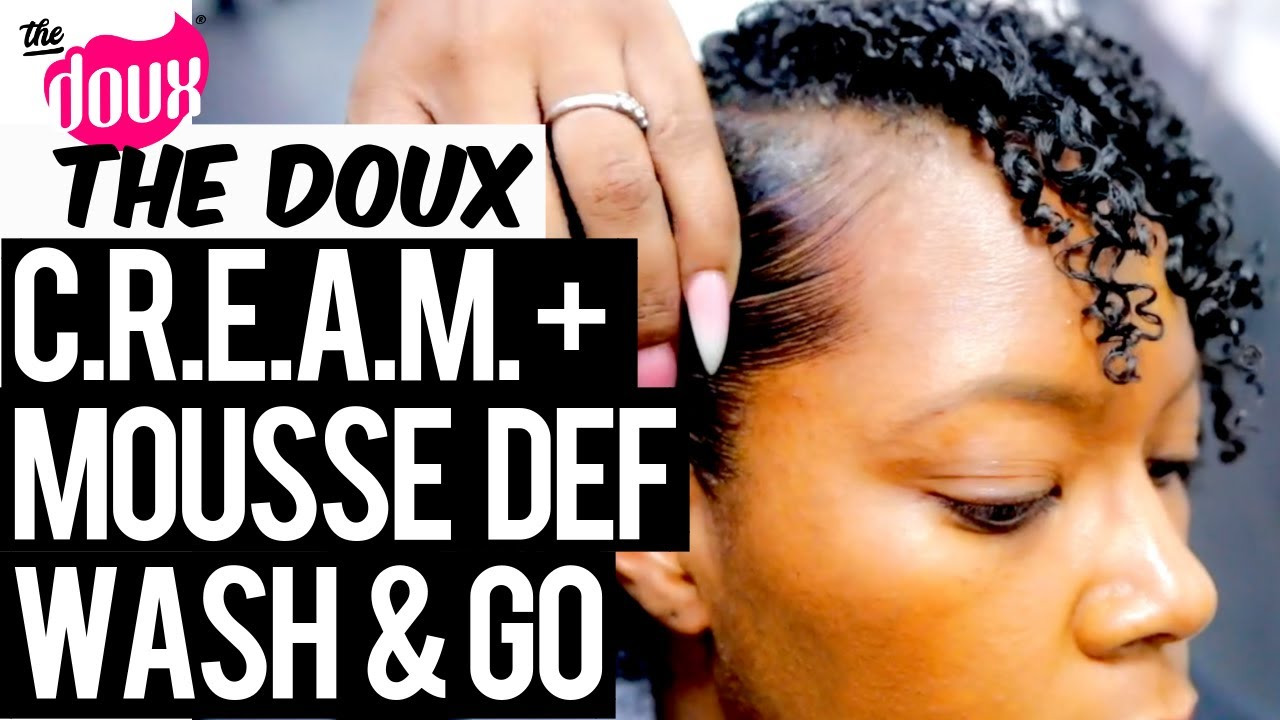 The Doux C.R.E.A.M. and MOUSSE DEF Wash & Go