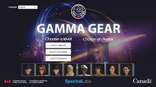 Play the Gamma Gear game at the CNSC's Learning Portal