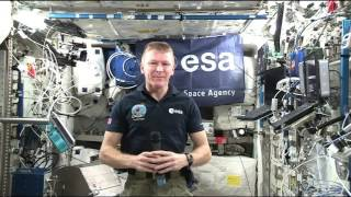 British Space Station Crew Member Discusses Life in Space with the Media