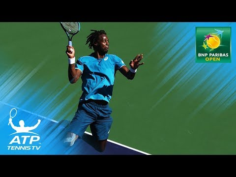 Gael Monfils Top Entertaining Moments vs Ebden | Indian Wells 2018 First Round