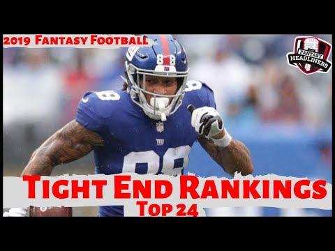 2019 Fantasy Football Rankings - Top 24 Tight End (TE) Rankings