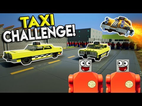 LEGO CRAZY TAXI CHALLENGE! -  Brick Rigs Multiplayer Gameplay Challenge & Roleplay - Lego Taxi