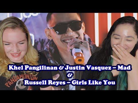 Khel Pangilinan x Justin Vasquez - Mad & Khel Pangilinan x Russell Reyes - Girls Like You Reaction