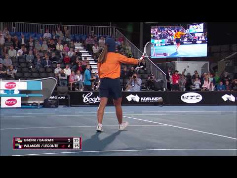 WTC Ballkid joins in the action | World Tennis Challenge 2018