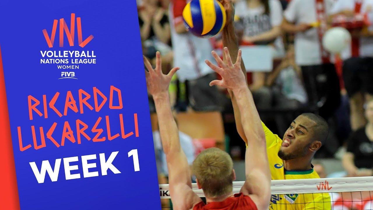 Ricardo Lucarelli (BRA) best plays | #VNL2019 Week 1! | Volleyball Nations League 2019