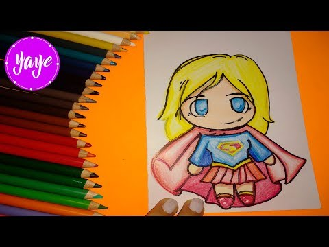 Como Dibujar Y Colorear Super Chica Kawaii Drawing And Coloring