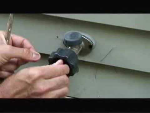 how to fix a leaky frost free sillcock outdoor faucet video