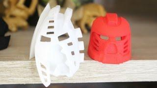 Bionicle Shapeways: Kanohi of Light and Shadow & Tahu Prototype