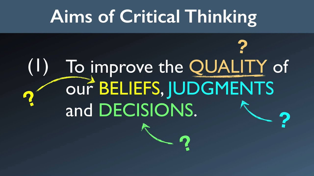 What Are The Aims of Critical Thinking? - YouTube