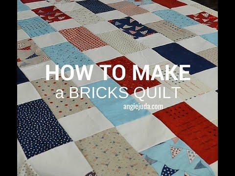 How to make a Bricks Quilt - YouTube : brick quilt - Adamdwight.com
