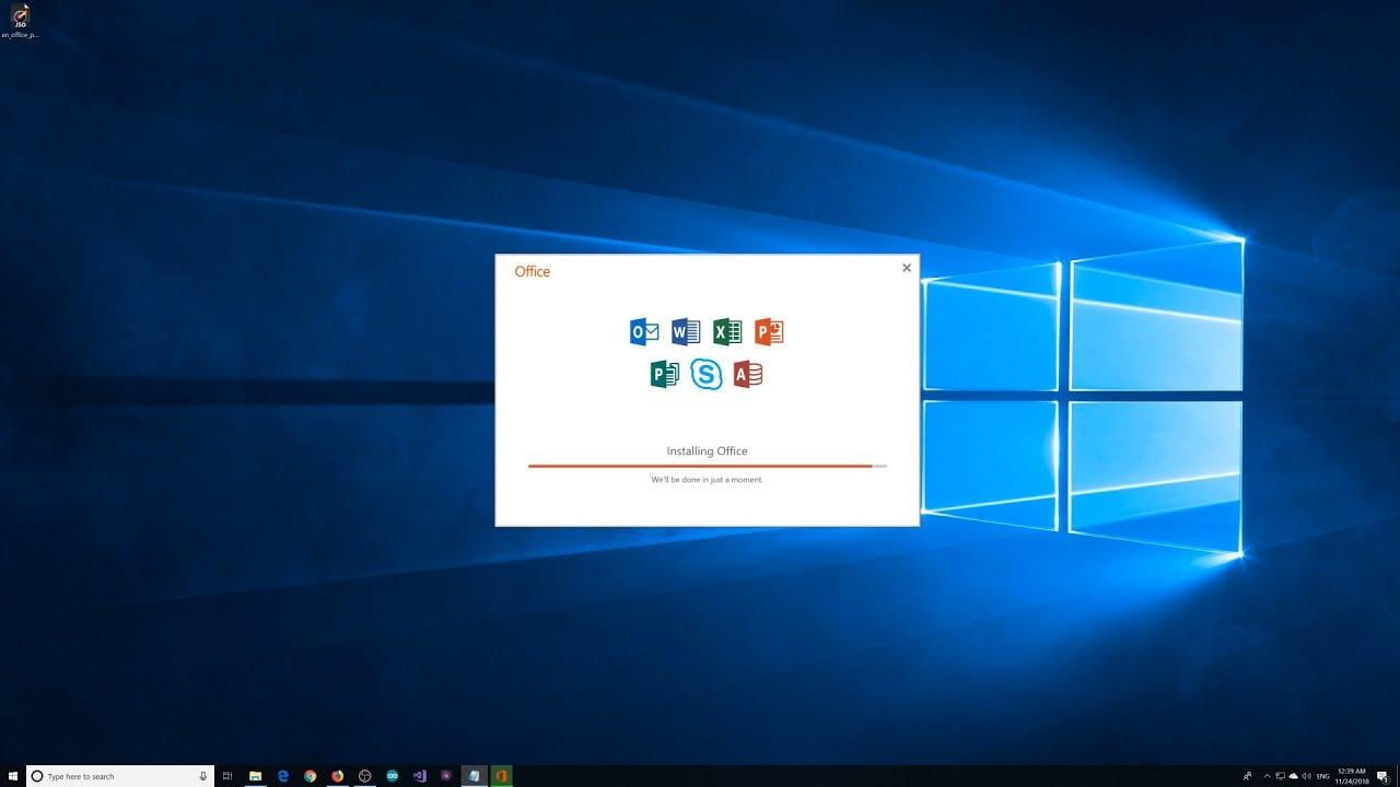 Installing Microsoft Office 2019