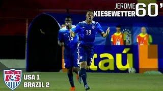 U-23 MNT vs. Brazil: Jerome Kiesewetter Goal - Nov. 11, 2015