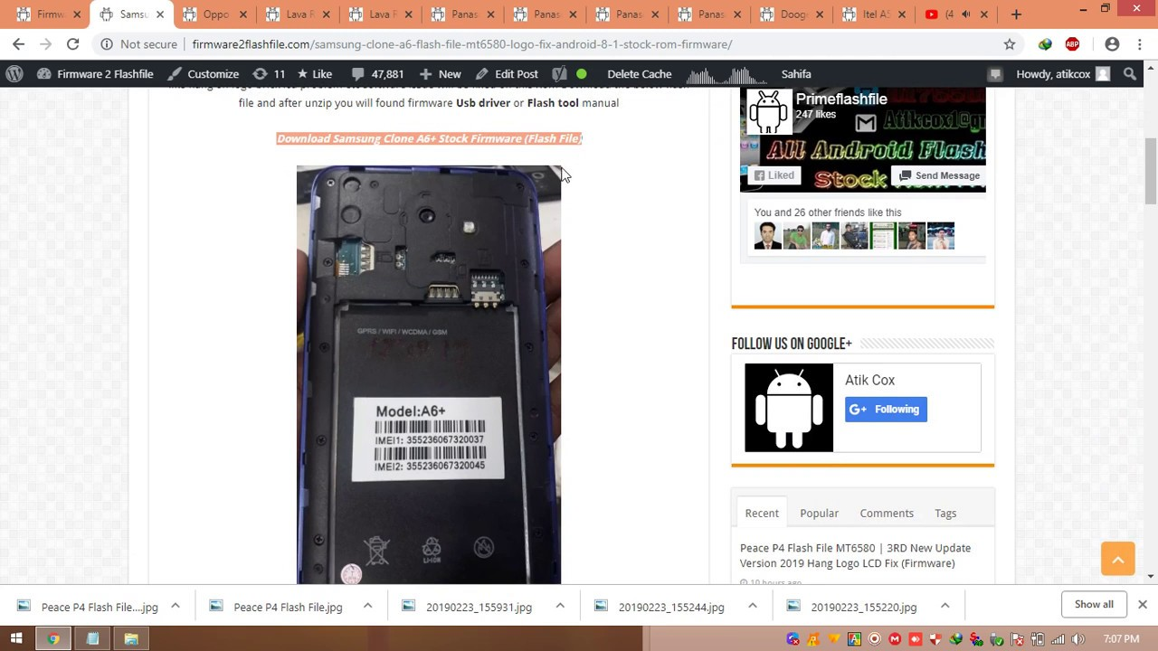Samsung Clone A6+ Flash File MT6580 8 1 Hang Logo Done Lcd Fixed