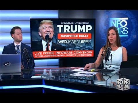 Infowars Nightly News - Wednesday (3-15-17) Trump Nashville Rally