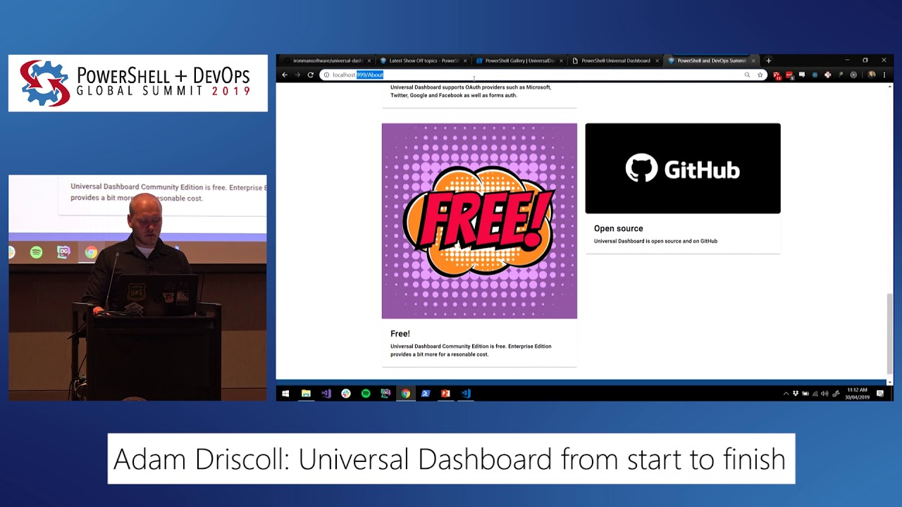 PowerShell Universal Dashboard from start to finish by Adam Driscoll